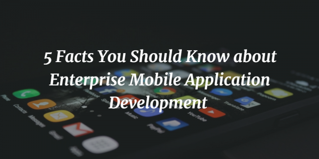 5 Facts You Should Know about Enterprise Mobile Application Development